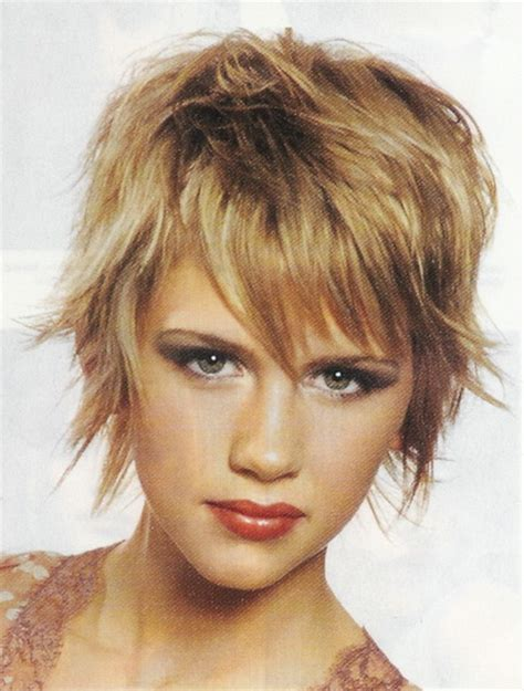 textured layered shag hairstyles short shag hairstyles