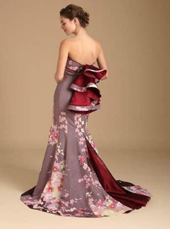 Kimono Dress Premium Terbaru 2017 kimono wedding dress line features gowns made from antique kimonos