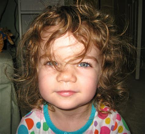 pics of bab curly in back straight in front the study of styling the curly haired toddler by a