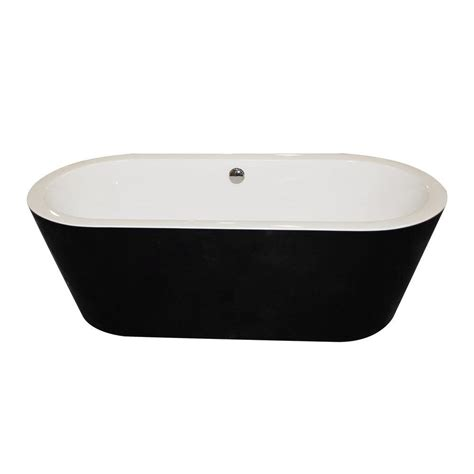 black freestanding bathtub black acrylic freestanding bathtub