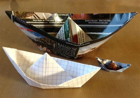 San Boat Origami - visual journal writing in an origami boat