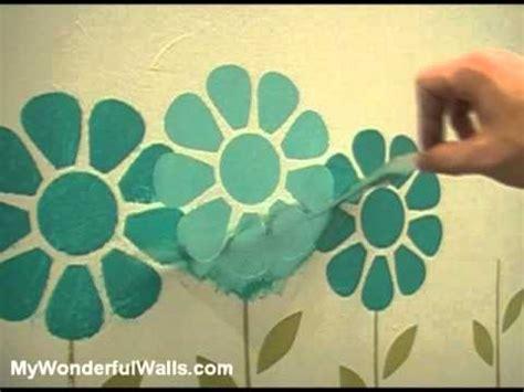 girls bedroom stencils girls room flower garden makeover wall stencils youtube