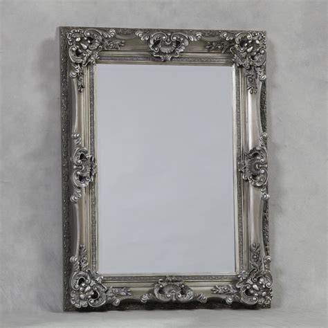 French Sideboards Antique Silver Small Regal Mirror 3970 P Jpg