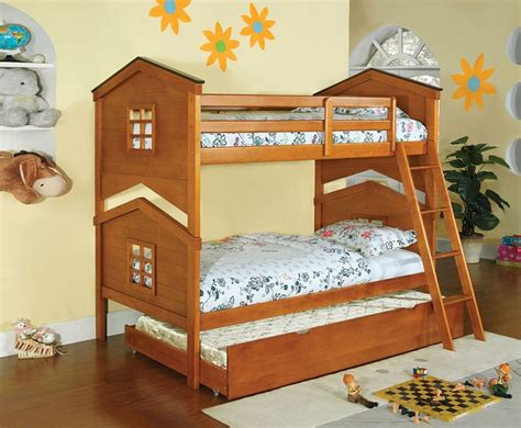 castle twin bed twin over twin castle pines oak finish solid wood bunk bed