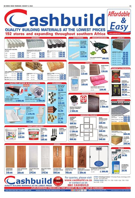 Build It Ceiling Boards Prices Ud News 09 08 2012 By Ud News Page 13 Issuu