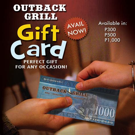 Where Can Outback Gift Cards Be Used - outback grill gift card outback grill