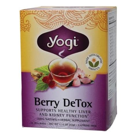Berry Detox Tea by Yogi Tea Berry Detox Tea Bags 16 Bags Supplement Store