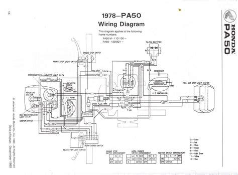 re wiring diagram 1980 honda pa 50