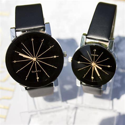 Jam Tangan Pria Laki Tali Kulit palight lepas pu kulit gelang jam tangan hitam untuk laki