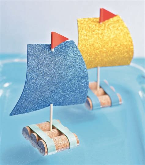 wine cork boat craft cork sailboat craft for kids