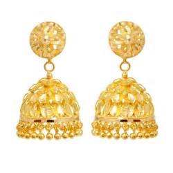 jhumki earrings trendy leaves designed gold earring