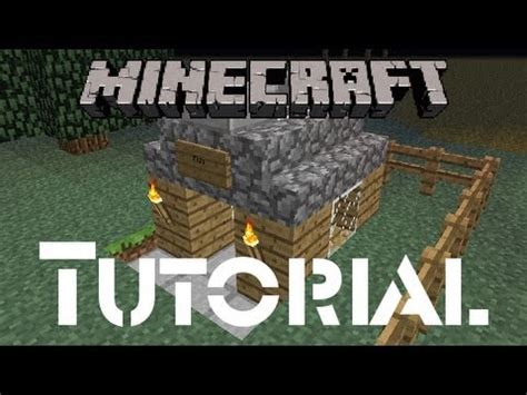 how to build a dog house minecraft minecraft tutorial how to build a dog house youtube