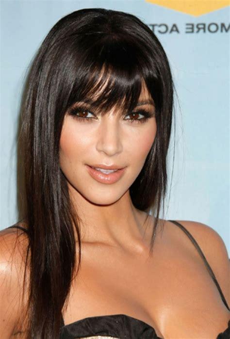long hair styles with swoop bangs black hair 15 best hairstyles for long hair with bangs hairstyles