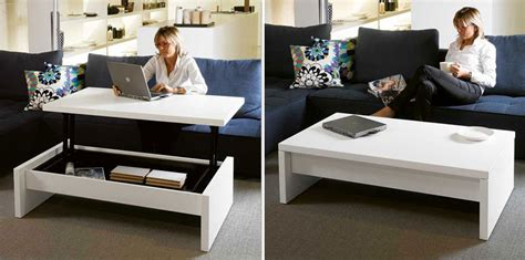 coffee table turns into desk convertible tables smart and modern solutions for small