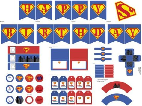 printable superman party decorations supergirl superman birthday party ideas birthday party