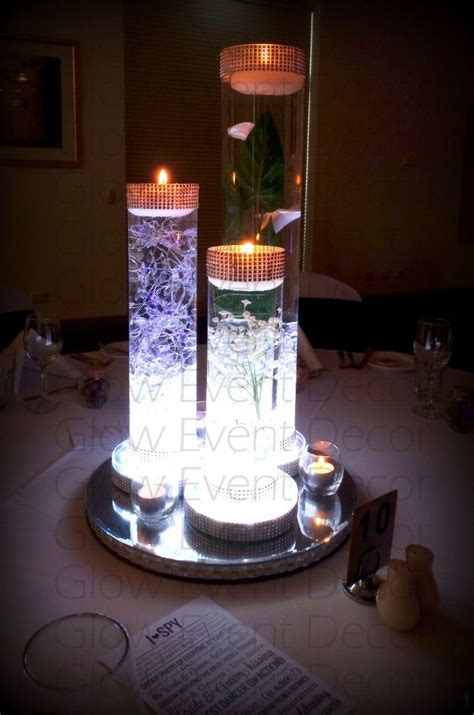 led light base for centerpieces led cylinder vase trio with led light base centerpiece