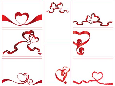 Decorative Hearts For The Home by Bigliettini Cuori Ribbon Hearts Cards Vettoriali