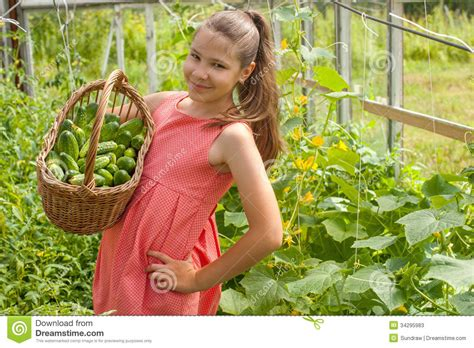 girl with cucumber lovely girl with cucumbers stock photos image 34295983