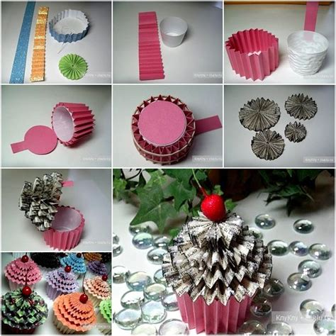 How To Make Paper Cupcakes - diy paper cupcake gift box pictures photos and images