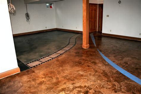 concrete floor coverings basement unique basement flooring options images of dining room small room interior decorative concrete