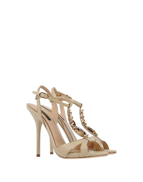 beige heeled sandals dolce gabbana high heeled sandals in beige lyst