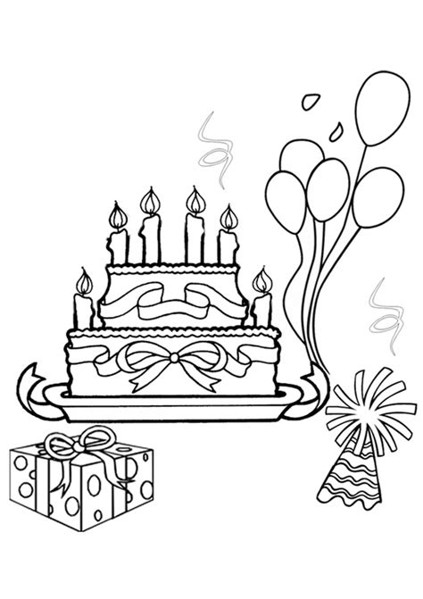 Free Online Birthday Fun Colouring Page Kidspot Colouring Pages