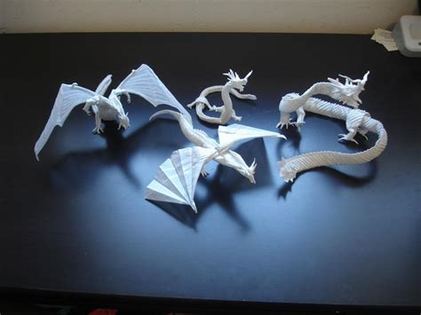 How To Make Complicated Origami - mega complex origami dragons by origami artist galen on