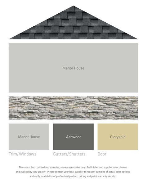 fresh color palettes for a gray or black roof
