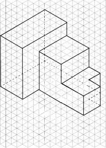 isometric drawing 3d drawing