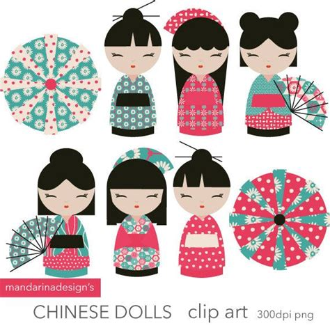 design doll download full kokeshi dolls clipart chinese dolls instant download