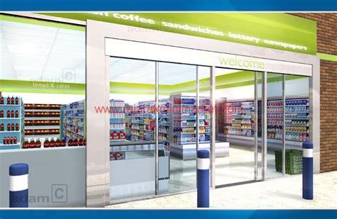 desain layout minimarket desain toko ukuran menengah raja rak minimarket