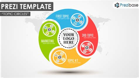 topic circles prezi template prezibase