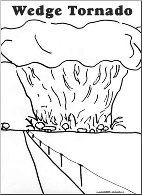 coloring book pages tornadoes coloring page wedge tornado abcteach
