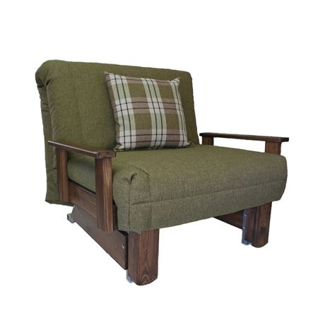 futon armchair kensington single chair bed wood stain colours