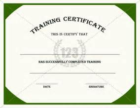 Training Certification Template Gallery For Gt Certificate Of Training Templates