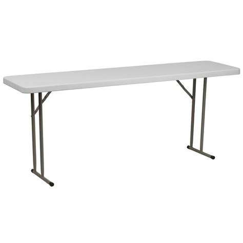 White Plastic Folding Table 18 Quot X 72 Quot Granite White Plastic Folding Table Ship Bar Restaurant Furniture