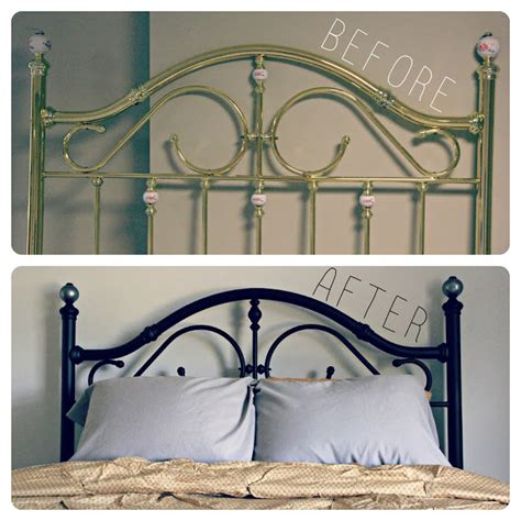 Interior Shareapy Metal Bed Frame Makeover How To Paint A Metal Bed Frame