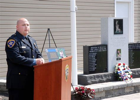 Union County Sheriff S Office by Union County Sheriff S K 9 Lorcan Remembered At Memorial