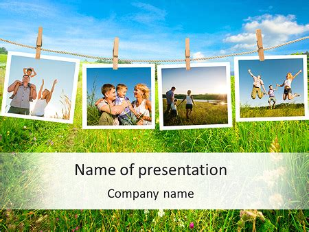 Memorable Family Photos Powerpoint Template Backgrounds Id 0000004862 Smiletemplates Com Powerpoint Templates Family