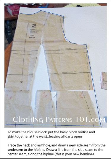 pattern making blouse how to draft a women s blouse block