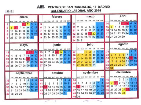 calendario laboral 2016 search results calendar 2015