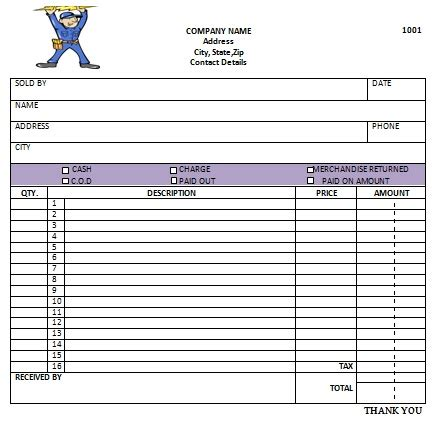 electrical company receipts template 13 free electrical invoice templates demplates