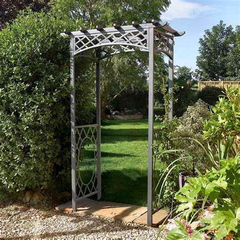 steel garden wrenbury square top metal garden arches