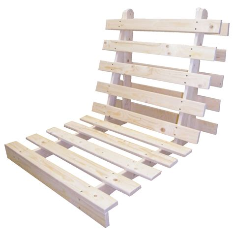 Wood Futon Frame Only Wooden Futon Bed Base Wood Sofabed Seat Frame In 3 Sizes Ebay