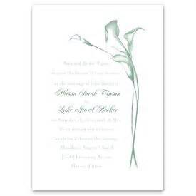 Calla Lily Arch Invitation Ann S Bridal Bargains Calla Wedding Invitation Templates