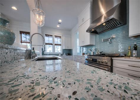 Recycled Glass Countertops Houston by Quot Emerald Coast Quot Vetrazzo Countertop David Weekley Homes