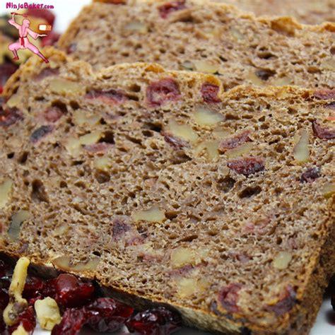 whole grains bread recipe whole grain cranberry walnut bread