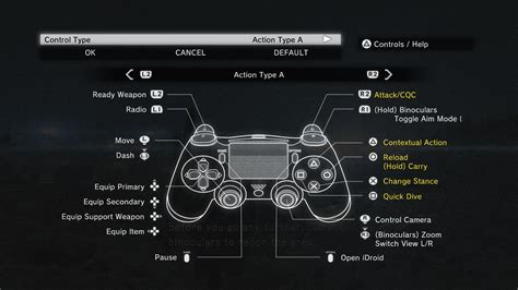 button layout for skyrim pc dualshock3 and 4 button icons at metal gear solid v the
