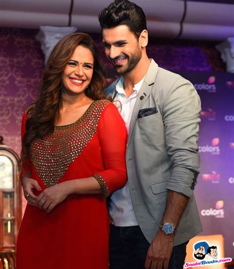 vivek dahiya and mona singh launch of tv serial kawach mona singh and vivek dahiya