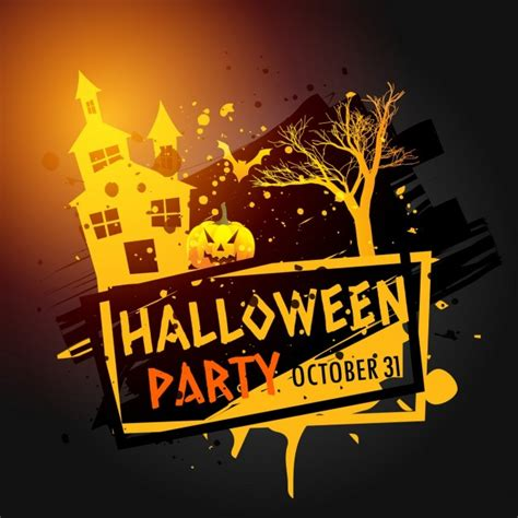 halloween images party fantastic background for halloween party vector free
